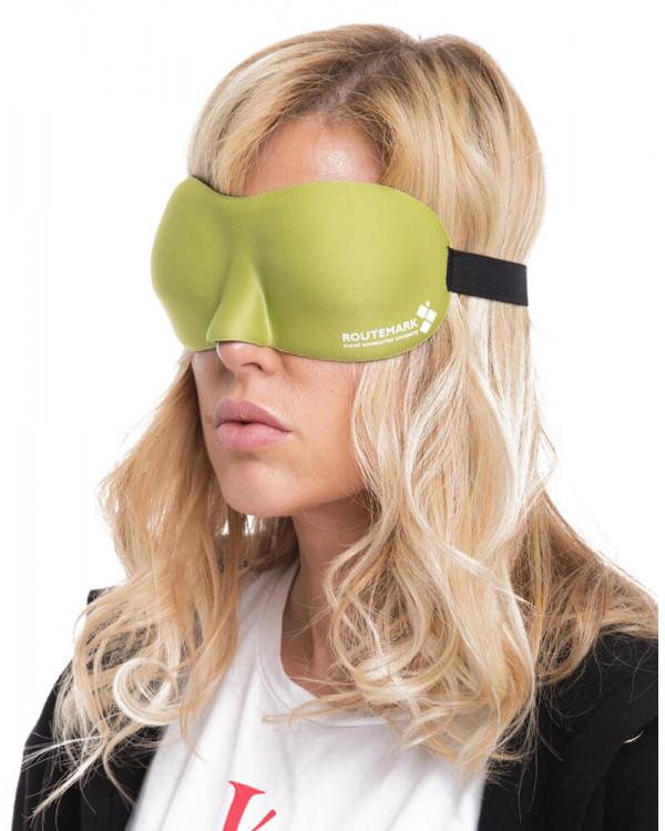 Маска для сна 3D Hawk Зеленая