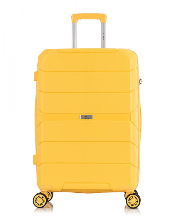 Чемодан Singapore желтый (M)